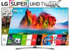 """lg smart tv super uhd 55"""" 4k - 55uj7500 - grupo rhinn"""